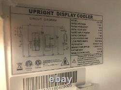 1 Glass Door Refrigerator Merchandiser Single Clear Display Store Cooler NEW