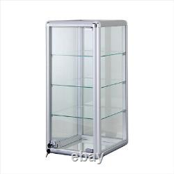 12 Aluminum Frame Counter Top Glass 3-shelf Showcase F-1302