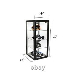 12 Aluminum Frame Showcase Counter Top Glass 3-shelf Display Case F-1302-b