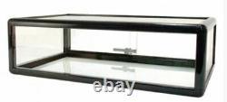 18 Aluminum Frame Counter Top Glass Showcase / Black F-1303-b