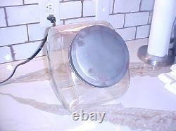 1930s Atlanta JAKE'S PEANUTS Glass Store Counter JAR withMETAL Hinged Lid RARE