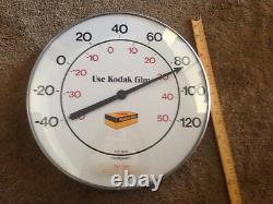 1960s Use Kodak Film Kodak Camera Advertising Large Outdoor Glass Thermometer