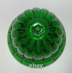 19c Green Glass Beehive String Holder Pat Apld For Country Store Counter Display