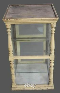 19th Century Antique French Cheese Display Case Marble Glass Store Display