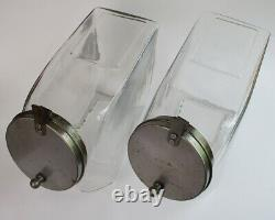 2 Candy jars blown glass soda fountain general store display circa 1900 antique