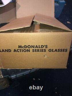 2 Vintage 1977 McDonalds Character Collector Series Glasses STORE DISPLAY