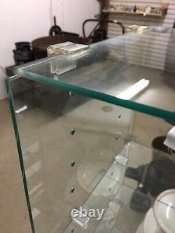 2 x 4 Glass Cube Shelving 12 deep Adjustable Shelves with Clips Store Display