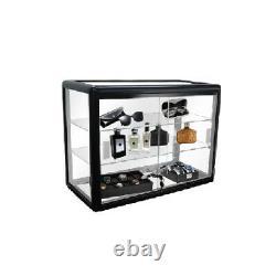 24 Aluminum Frame Counter Top Glass Showcase Black F-1301-b