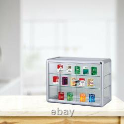 24 Counter Top Glass Showcase With Glass Shelves F-1301