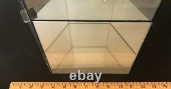 3 Tier Shelf Memorabilia Glass Mirror Hexagon Collectible Display Case 25 x 8