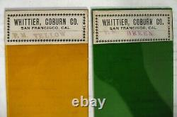 32 Vintage Stained Glass Samples Whittier, Coburn San Francisco