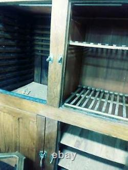 6'Ice Box glass doors Antique Oak Confectionery Commercial Shop Icebox WILL SHIP