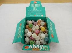 71 Vintage GE Lighted Ice # 48-D30 Snowball Bulbs with A Original Store Display