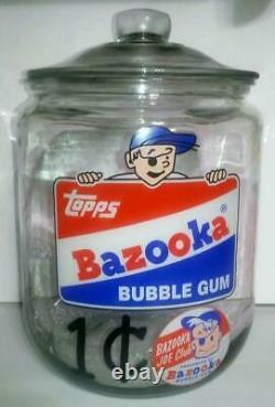 A Giant Super RARE Bazooka Bubble Gum Glass Counter Jar