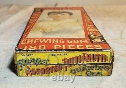 Antique Adams Tutti Frutti Chewing Gum Store Display 180 Pieces Box Glass Insert