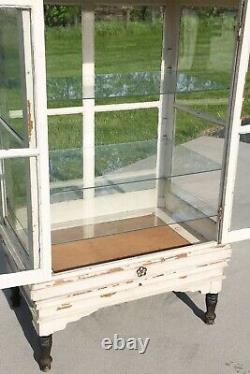 Antique Apothecary Cabinet Bakers Cabinet Oak Display Case Country Store Kitchen