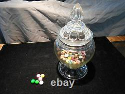 Antique Candy Store Counter Top Display Glass Jar