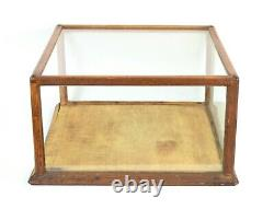 Antique Circa 1900 Oak & Glass General Store Counter Top Display Cabinet