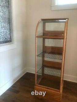 Antique Early 20th Century Oak Pie Display Cabinet General Store