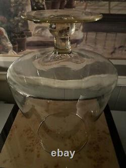 Antique Empoli General Store Glass Candy Jar Apothecary Display 16.5
