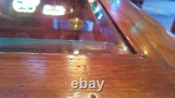 Antique GENERAL STORE VINTAGE Mercantile Display Counter Top Wood & Glass Case