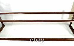 Antique General Store Copper Sheathed Wood & Glass Display Case Oblong 00401010