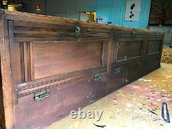 Antique Glass Countertop Store Display Showcase