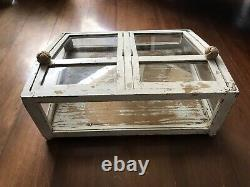 Antique Glass Countertop Store Display Showcase almost one meter