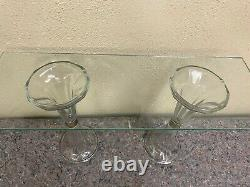 Antique Glass General Store Display Shelf Supports (Supports Only)