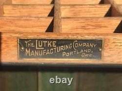 Antique Lutke Manufacturing Company Wood and Glass Cane/Golf Club Store Display