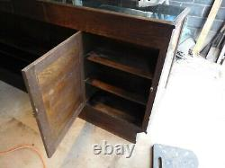Antique NOT OAK ORIGINAL GLASS COUNTRY STORE DISPLAY/SHOWCASE, FROM LENOIR N C
