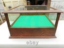 Antique OAK Original GLASS COUNTRY STORE DISPLAY/SHOWCASE Cash Drawer Showcase