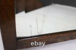 Antique Quarter Sawn Oak Beveled Glass Shoe Store Display Fitting Mirror Streit