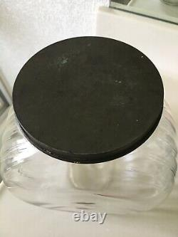 Antique Smarties Candy General Store Glass Display With Tin LID