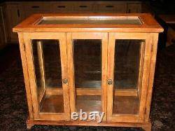 Antique Tabletop countertop wood & glass display case cabinet-15586