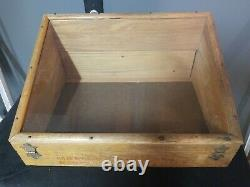 Antique Tool Bit Slanted Wood and Glass Display Case Henry L Hanson Co