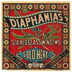 Antique, Unused DIAPHANIAS Stained Glass Windows Store Window Display, Art Deco