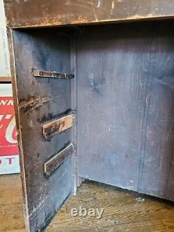 Antique VTG Pharmacy Apothecary Prescription Drug Store Counter Display Cabinet