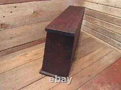 Antique Vintage Store Front Wood Glass Display Cubby's Wood Cabinet