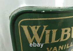 Antique Wilbur's Vanilla Chocolate Buds Philadelphia Glass Candy Store Jar