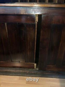 Antique Wood Mercantile Store Display Cabinet Edwards Co Cleveland GLASS BRASS
