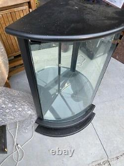 Black glass back Curved Corner Curio store display or home light