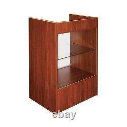 Cash Register Stand With Glass Front Showcase /cherry Scrgc