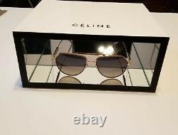 Celine Logo 2 Piece Display In White Chipboard With Interior Glass Mirror