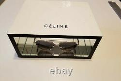 Celine Logo 3 Piece Display In White Chipboard With Interior Glass Mirror