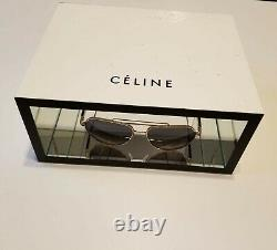 Celine Logo One Piece Display In White Chipboard With Interior Glass Mirror