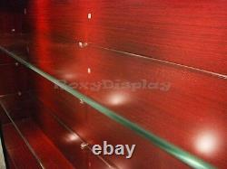 Cherry Color Wall Showcase Display Store Fixture Knocked Down #WC439C