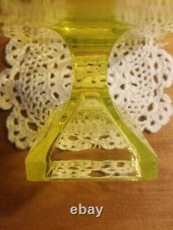 Clark's TEABERRY Gum Yellow VASELINE Glass Footed TIP TRAY Store Display