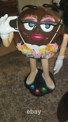 Collectible M&M Brown Lady Glasses Character Candy Store Display Storage Tray