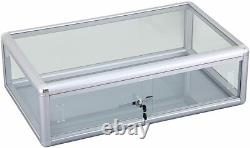 Counter Top Glass and Aluminum Frame Display Case